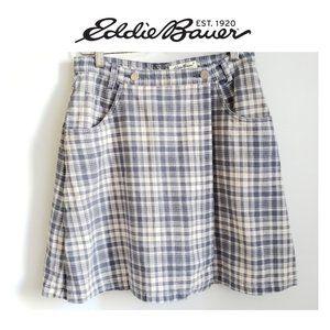 Eddie Bauer 100% Cotton Vintage Wrap Skirt Sz 10